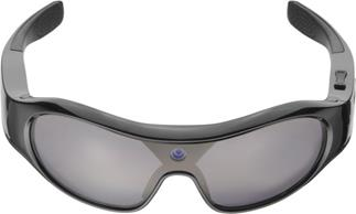 The Pivothead Aurora sport sunglasses feature a bridge-mounted point-of-view camera.