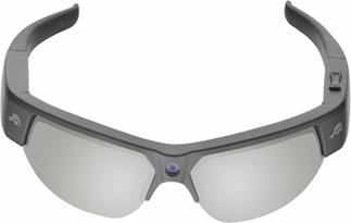 The Pivothead Recon sport sunglasses feature a bridge-mounted point-of-view camera.