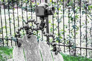Cinetics CineVise mounts your camera to a rough, porous surfaces (camera, Gorillapod Focus, and ballhead not included).