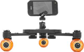 The Cinetics miniSkates Pro portable dolly can turn your smartphone into a sophisticated piece of production gear
