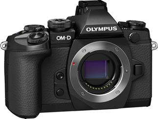 The Olympus OM-D E-M1's substantial grip makes it easy to hold onto.