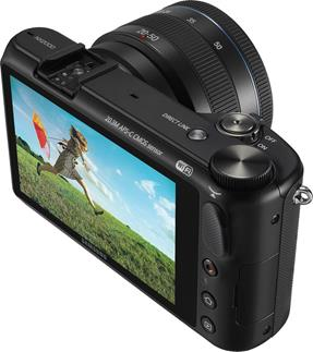 The Samsung NX2000 Smart Camera has one of the largest LCD touchscreens in its class