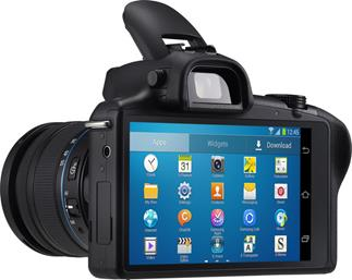 The Galaxy NX features an AndroidT operating system on a large LCD screen