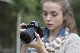 The Sony Alpha A7 is compact and easy to handle while still delivering full-frame quality (lens not included)