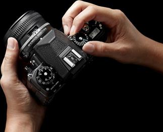 "The Nikon Df features substantial locking control dials that come to their detents with a reassuring ""click."""