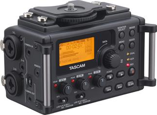 Built-in tripod mounts allow the TASCAM DR-60D recorder/mixer to integrate with any DSLR shooting rig
