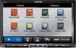 Alpine X008U navigation receiver