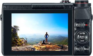 "The Canon PowerShot G7 X helps you preview shots with a tilting, full-color 3"" touchscreen."