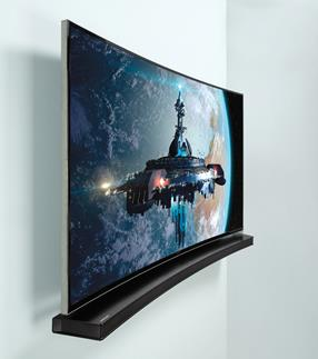 samsung curved tv wall mount. samsung hw-h7500 with a curved-screen tv curved tv wall mount