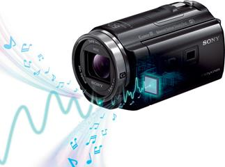 Sony HDR-PJ540 camcorder/projector with 5.1 surround microphone
