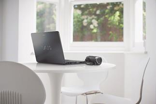 Sony HDR-CX240 connected to laptop computer