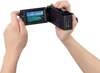 "Sony HDR-CX330 with 2.7"" LCD viewscreen"