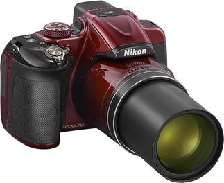 The Nikon CoolPix P600 has a built-in lens with 60X zoom and vibration reduction.