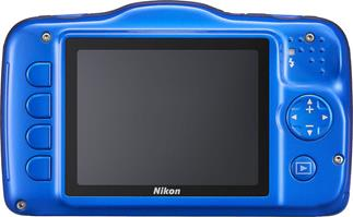 The Nikon Coolpix S32 (blue)