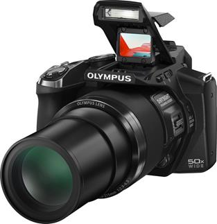 Olympus SP-100 with red dot sight