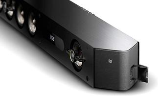 The Sony HT-ST9 creates a wide soundfield with 10 speakers, including three supertweeters for crisp highs.