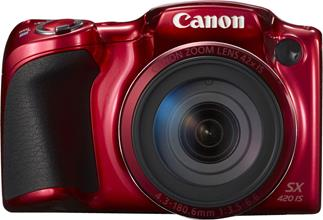 The Canon PowerShot SX420 IS features an easy to grip design.
