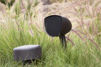 The AcoustaScape AS4.1 system lets you enjoy music in your yard without overshadowing your landscaping efforts.