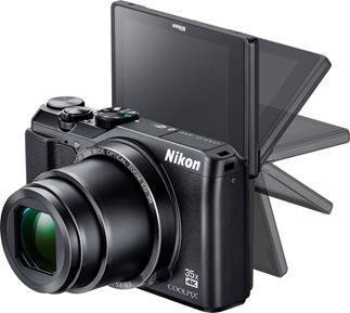 "The tilting, swiveling, 3"" screen on the Nikon Coolpix A900 makes it easier to take selfies and shoot from challenging angles."