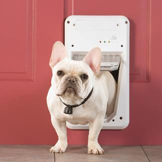 The SmartKey device on your pet's collar is the only thing that will unlock the SmartDoor.