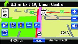 Escort Passport iQ GPS screen