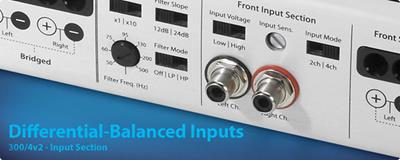 Differential inputs for low noise