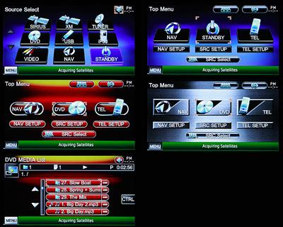 A variety of GUI