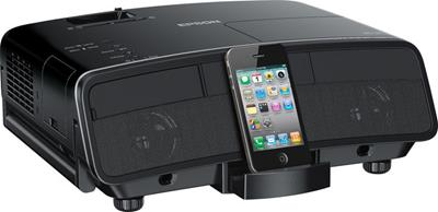 Epson MegaPlex MG-50 with docked iPhone