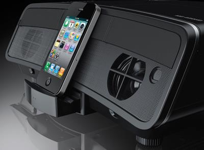 Epson MegaPlex MG-850 with docked iPhone