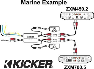 wiring 2 channel car amps and speakers with Kicker Marine Dual Zone Level Control on Kicker Marine Dual Zone Level Control likewise Pubs in addition
