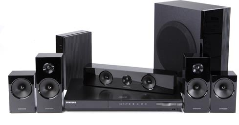 Samsung HT-E5500W 3D-ready Blu-ray 5.1 home theater system with built-in Wi-Fi® and wireless rear speakers