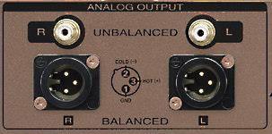 Player with balanced and unbalanced analog outputs.