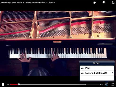 Use AirPlay to stream music from apps like YouTube on your iPad or iPhone.
