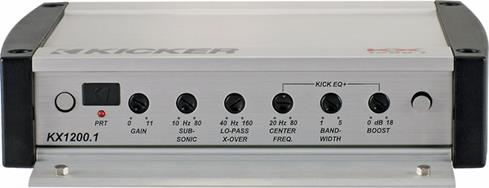 Kicker KX1200.1 control panel (shown for illustration)