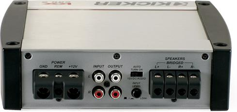 Kicker KX200.2 connection panel