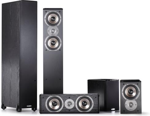 The Polk Audio 5.1-channel speaker system