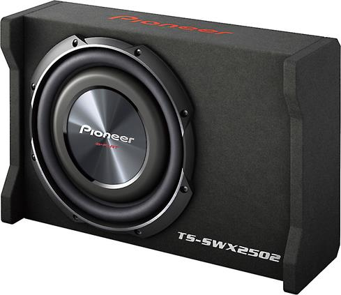 Preloaded compact subwoofer box