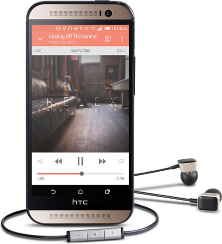 HTC One (M8) Harman/Kardon Edition with AES earbuds