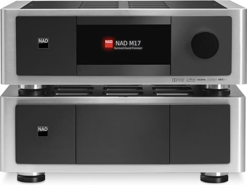 NAD Masters Series M17 and M27 preamp/processor and seven-channel power amplifier