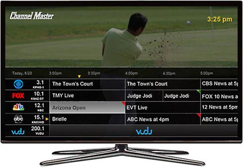 Channel Master DVR+ program guide