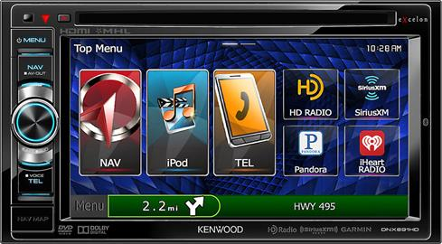 Kenwood Excelon DNX691HD navigation receiver