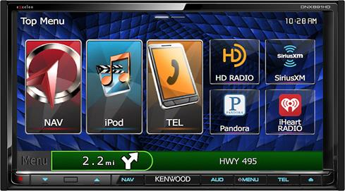 Kenwood Excelon DNX891HD navigation receiver
