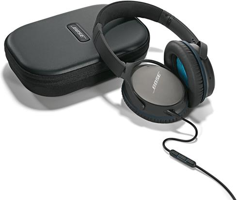 Bose QuietComfort 25 headphones wtih included accessories