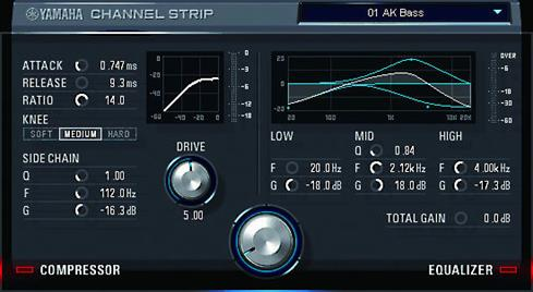 DSP plug-in for the Steinberg U44 interface