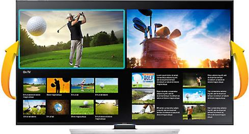 Samsung UN55U8550 Quad Screen