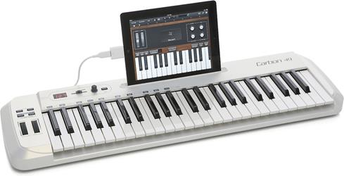 Samson Carbon 49 keyboard with iPad (not included)