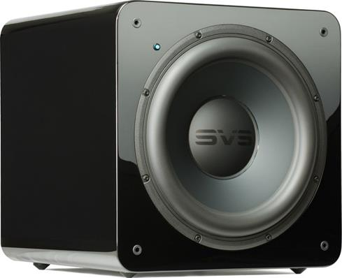 SVS SB2000 powered subwoofer in piano gloss black