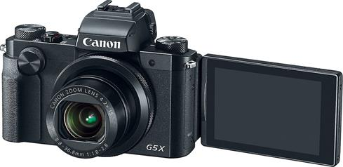 "Take perfect selfies with the help of the 3"" vari-angle LCD screen on the Canon PowerShot G5 X"