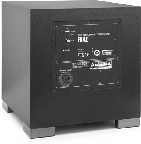 ELAC Debut S10EQ Powered subwoofer with Bluetooth® control and auto EQ