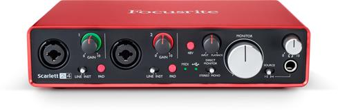 Focusrite Scarlett 2i4 computer audio interface